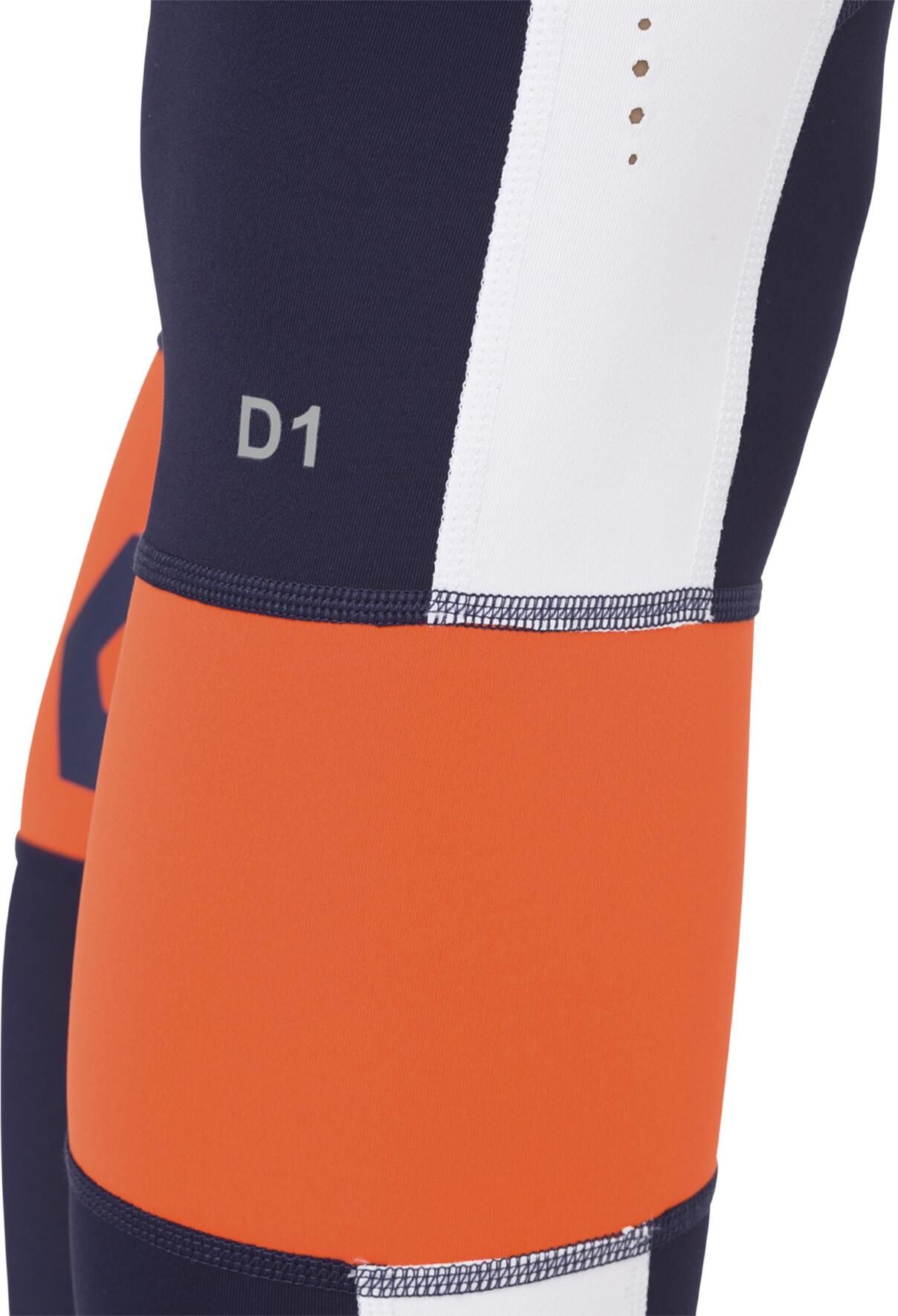 a49f358d07a asics Color Block Cropped Tights 2 - Pantalones largos running Mujer -  naranja azul
